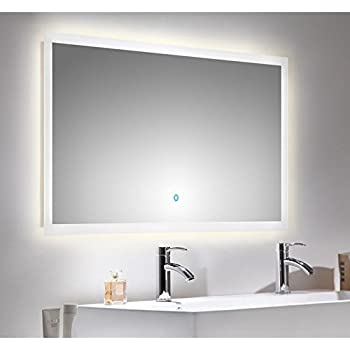 lomado badezimmer led spiegelschrank 120cm touch. Black Bedroom Furniture Sets. Home Design Ideas