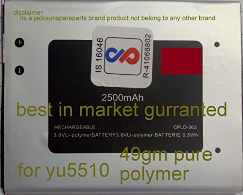 jacksunspareparts Mobile Battery Compatible to Micromax Yu Yureka Yu5510 Aq5510