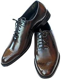 Bronnko Dark Choco Cherry Men's Oxford Formal / Casual Shoes