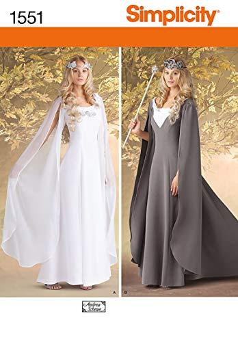 Kostüm Muster Einfachheit - Simplicity Creative Patterns 1551 Damen-Kostüme, U5, Gr. 42-52