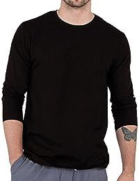 Men's Black Round Neck Full Sleeve T-Shirt