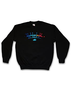 Urban Backwoods DB Meter II Sweatshirt – Decibel Music Bass Retro Radio Cassette Tape Record Vinyl Stereo Music...