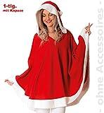Unbekannt Miss Santa Claus Kapuzenponcho Nikolausin Nikolaus Damen Kostüm