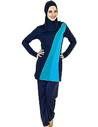YEESAM Muslimischen Badeanzug - Muslim Islamischen Bescheidene Badebekleidung Modest Swimwear Burkini für muslimische Frauen - Hijab Abnehmbaren