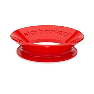 Staybowlizer silicone bowl stabilisateur-red color red :