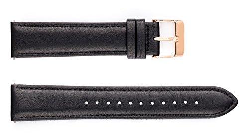 Uhrband CLASSIC (Band schwarz/Schließe rosé-gold)