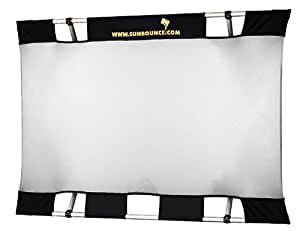 Sunbouncer Mini Starter-Kit silber - Rückseite weiß (nahtlos)