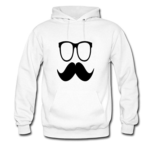 HKdiy glasses Custom Men's Classic Hoodie White