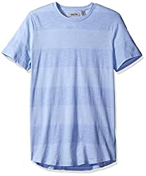 Kenneth Cole REACTION Mens Wide Stripe Crew, Blue Heron, X-Large