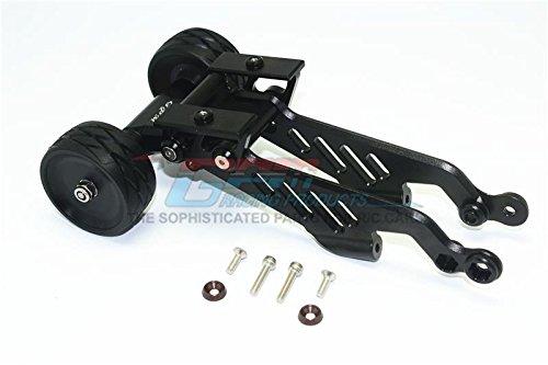 G.P.M. Arrma 1/8 OUTCAST 6S BLX Stunt Truck Aluminum Rear Wheelie With Wing Mount - 1 Set Black