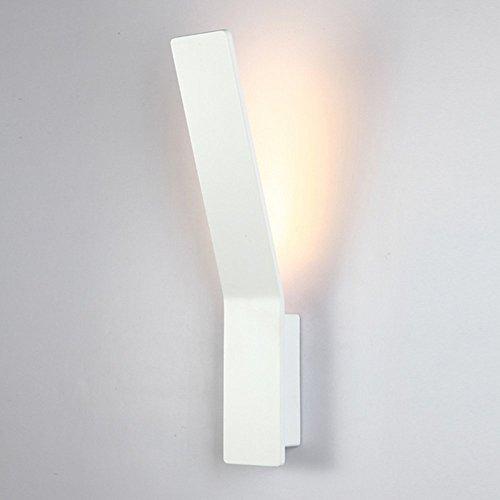 prezzo Glighone Applique da Parete Interni per Decorazione a LED Illuminazione Interna da Muro Lampada da Parete di Alluminio per Camera da Letto Soggiorno Bagno, Luce Bianco Caldo