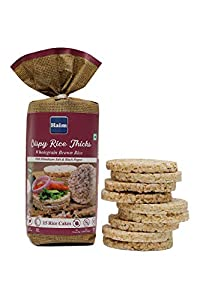 Haim Crispy Rice Thicks Wholegrain Brown Rice Cakes with Himalayan Salt & Black Pepper (15 Rice Cakes/Packet) Pack of 2