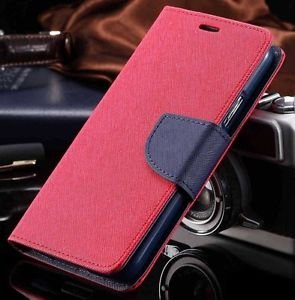 First 4 For Vivo V3 Max Flip Cover Mercury Wallet Dairy Case (Pink & Blue)