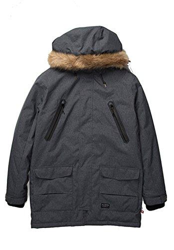 2016 Billabong Tumbolt Parka Jacket ANTHRACITE Z1JK21 Sizes- - Large
