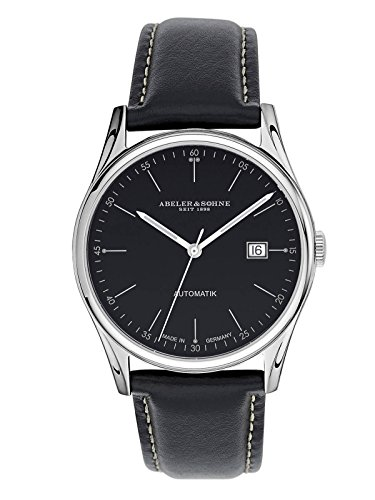 Abeler & Söhne Made in Germany Men's Automatic Watch with Leather Strap, Sapphire Glass and Date AS2663