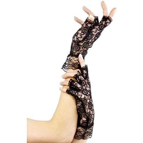 Traje de neopreno para mujer colores blanco y negro diseño de encaje sin dedos guantes de diseño gótico disfraz infantil de noche de