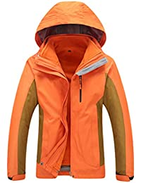 b109fed138a3c WanYangg Hommes 3 en 1 Vestes Imperméable Coupe-Vent Manteaux Détachable  Polaire Intérieur Hiver Parka
