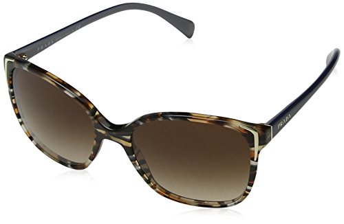 Prada Damen 0PR01OS CO56S1 55 Sonnenbrille, Blau (Havana/Ears Avio Blue/Brown),