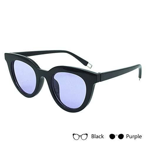 Aprigy - Frauen Katzenaugen-Sonnenbrille Mode Sexy UV400 Sonnenbrillen Weibliche Brillen Oculos De Sol [schwarz Lila]