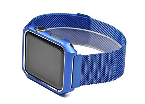 VIWIV Iwach Strap Nice Border Integrated Strap for Apple Watch38mm/42Mm Metallgurt,Blue,38Mm -