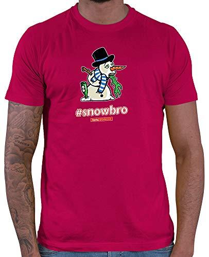 HARIZ  Herren T-Shirt Pixbros Snowbro Xmas Weihnachten Witzig Geschenke Tannenbaum Plus Geschenkkarte Sorbet Rot ()