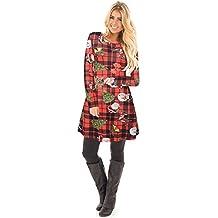 Vestido de Navidad de la muchacha de las mujeres Ruiyige Vestido de la oscilación de la