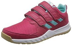 Adidas Unisex-kinder Buty Forta Gym Cf K Cg268032 Gymnastikschuhe, Mehrfarbig (Energy Pink F17energy Aqua F17ftwr White), 32 Eu