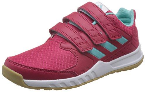 adidas Unisex-Kinder FortaGym Gymnastikschuhe, Mehrfarbig (Energy Pink F17/energy Aqua F17/ftwr White), 37 1/3 EU