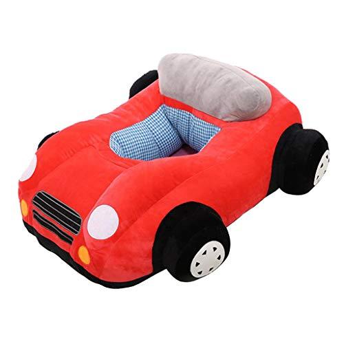 FLAMEER Auto Sitzsack Stützsitz Plüsch Stuhl Sofa Kindersitzsack Kindersofa - Rot