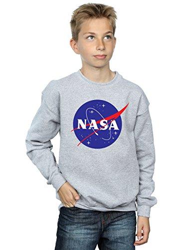 Nasa Jungen Classic Insignia Logo Sweatshirt 12-13 Years Sport Grey