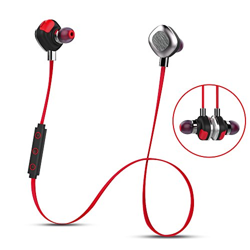 Morul U5Plus SoundBuds In-Ear Sport Earbuds Wireless Bluetooth Headphones with 8-Hour Playtime...
