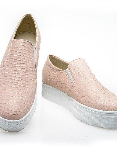 ShangYi gyht Scarpe Donna - Mocassini - Casual - Punta arrotondata - Basso - Finta pelle - Nero / Blu / Rosa / Bianco Pink