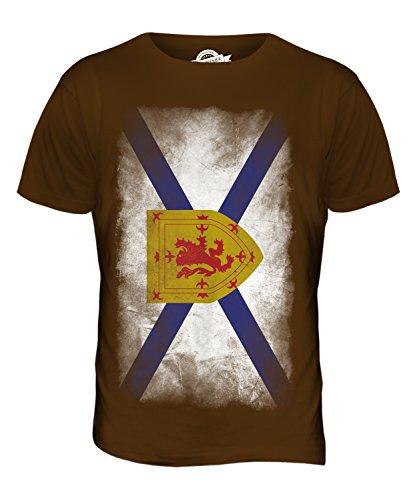 CandyMix Nova Scotia Verblichen Flagge Herren T Shirt Braun