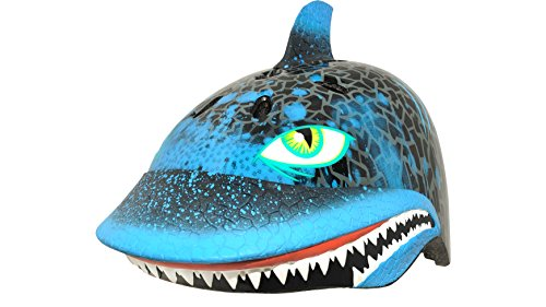 C-Preme Kinder Raskullz Shark Attax Fahrradhelm, Black, One Size