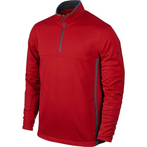 Nike, Maglione da golf termica in pile Uomo, con mezza cerniera, Rosso (University Red/Dark Grey/Anthracite), XXL