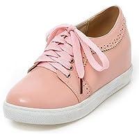 NJX/ hug Zapatos de mujer - Tacón Plano - Comfort - Oxfords - Exterior / Casual - Cuero - Azul / Amarillo / Naranja / Coral , coral-us6 / eu36 / uk4 / cn36 , coral-us6 / eu36 / uk4 / cn36