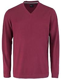 VENTI Pullover extra langer Arm V-Ausschnitt dunkelrot AL 72