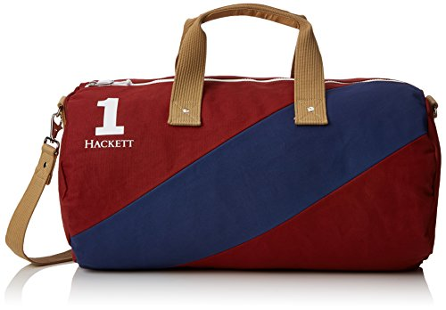 Hackett Sash Duffle, Portefeuilles homme, Red (Red/navy), 29x28x51 cm (W x H L)
