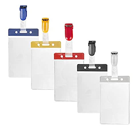 Karteo® Pass sleeve and protective sleeve vertical made of vinyl with colour bar blue and blue