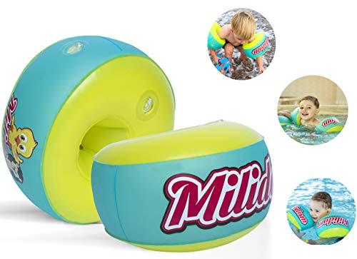 Milidom® Neuartige, Innovative Schwimmflügel für Kinder I Schwimmhilfen I von 12 Monaten bis 6 Jahre