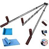 CAJOLG Beinspreizer aus Stahl Schlagpolster Beinspreizer Metall Bein trainingsgerät,Silver,D