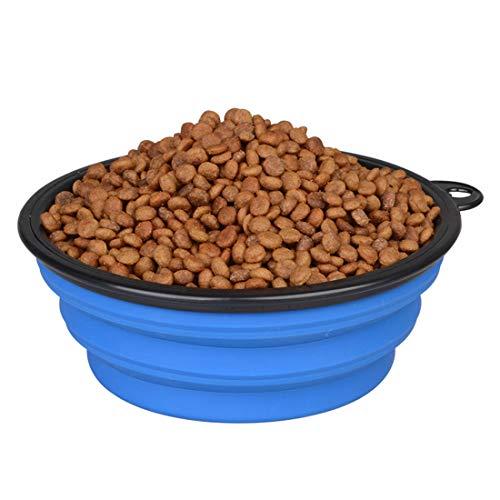 Placa plegable plegable de la taza del silicón de la categoría alimenticia 3000ml para el tazón de fuente móvil que acampa de la alimentación del agua del perro / del gato del animal doméstico.