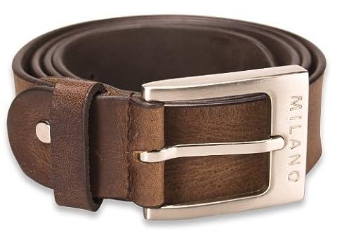 Milano Mens Full Grain Leather Belt - 1.25