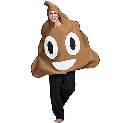 Hippie Erwachsene Kostüm Mans Für - Hupoop  Halloween Poop Ausdruck Kostüm Erwachsenen Bühnenkostüm täuschen lustige Ausdruck Rolle Spielen Kleidung Requisiten (Mehrfarbig)