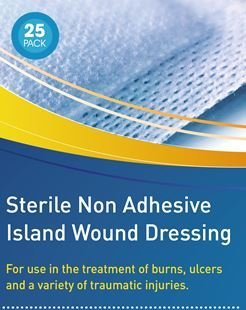 Steril nicht klebende Wundauflagenin verschiedenen Größen, hypoallergen und steril (ähnlich wie Mepore/Primapore), 25 Stück - Nicht Sterile