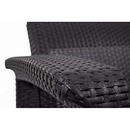 JUSTyou Corfu Sofa Couch Gartenbank + Tisch in Rattan-Optik Braun Taupe - 3