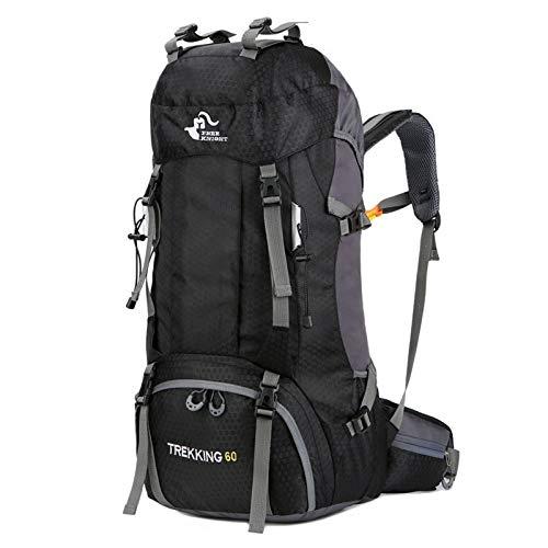 Fahrradrucksack Wasserabweisende Wanderrucksäcke für Tagesrucksäcke MInternal Frame 60L Rucksack Gepolsterte Rückenstütze und gepolsterte verstellbare Träger für Männer und Frauen für Fitness Wandern -
