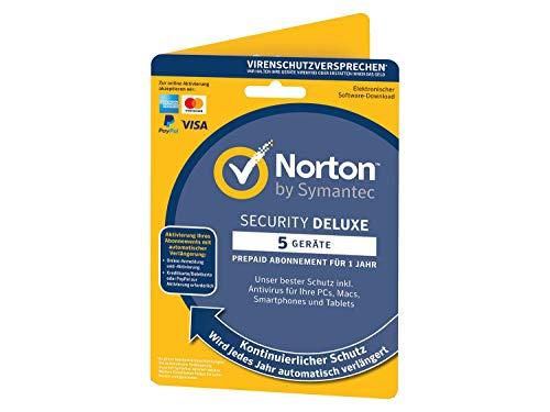 Norton Security Deluxe 2019/2020 | 5 Geräte | 1 Jahr | PC/Mac/iOS/Android | Download