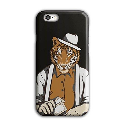 Tiger Poker Cool Gangster Groß Katze Maske iPhone 6 / 6S Hülle | (Gangster Katze Kostüme)