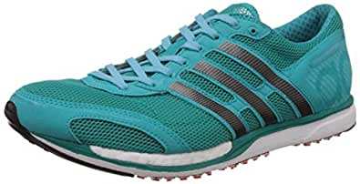 Adidas Men's Adizero Takumi Sen 3 Green, Black and Bright Blue Running Shoes - 9 UK